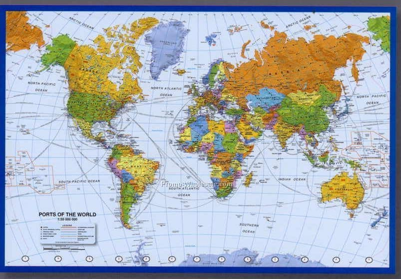 Ports Of The World Quiz More Than Shipping - World quiz map