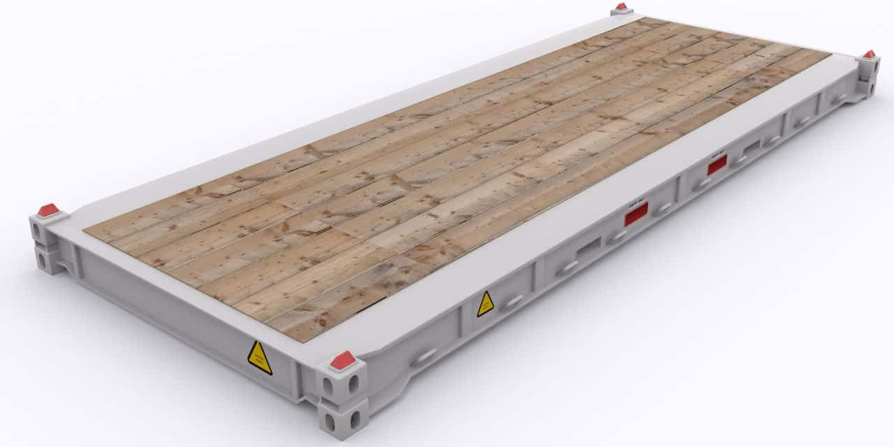 Break Bulk, Over-Sized Cargo Shipments On Flat-Rack Containers