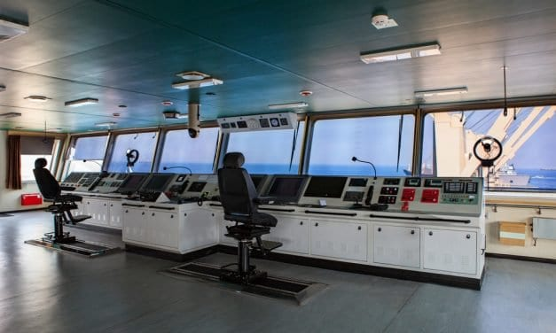 The Command Center of a Cargo Ship